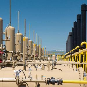 Eine unserer Öl- und Gas Förderungsanlagen.